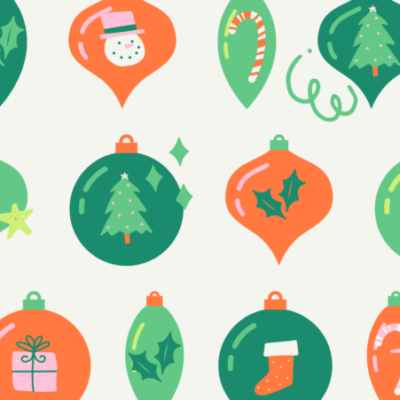 Green and Orange Handcrafted Illustrations Facebook Cover